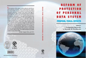 Reform of Protection of Personal Data System Purpose, Tools, Efffects